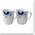 Royal Copenhagen, Blue Fluted Mega Mug, Pair