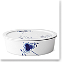 Royal Copenhagen, Blue Fluted Mega Dish With Lid 1.5Qt