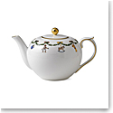 Royal Copenhagen, Star Fluted Christmas Tea Pot 1.5Qt