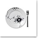 """Royal Copenhagen, Black Fluted Mega Dessert Plate #6 7.5"""""""