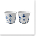 Royal Copenhagen, Blue Elements Multi Cup 8.5oz. Pair