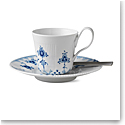 Royal Copenhagen, Blue Elements High Handle Cup and Saucer 8.5oz.