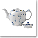 Royal Copenhagen, Blue Fluted Plain Tea Pot 1Qt