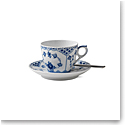 Royal Copenhagen, Blue Fluted Half Lace Coffee Cup & Saucer 5.75oz.