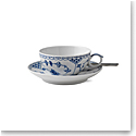 Royal Copenhagen, Blue Fluted Half Lace Tea Cup & Saucer 6.75oz.