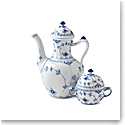 Royal Copenhagen, Blue Fluted Half Lace Coffee Pot 1Qt
