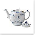 Royal Copenhagen, Blue Fluted Half Lace Tea Pot 1Qt