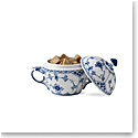 Royal Copenhagen, Blue Fluted Half Lace Sugar Bowl 6.75oz.