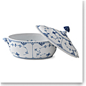Royal Copenhagen, Blue Fluted Half Lace Covered Tureen 2.25Qt