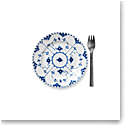 Royal Copenhagen, Blue Fluted Full Lace Bread & Butter Plate 6.75""