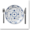 Royal Copenhagen, Blue Fluted Full Lace Luncheon Plate 9.75""