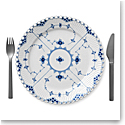 Royal Copenhagen, Blue Fluted Full Lace Dinner Plate 10.75""