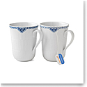 Royal Copenhagen, Princess Mug 11oz. Pair