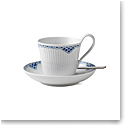 Royal Copenhagen, Princess High Handle Cup & Saucer 8.5oz.