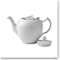 Royal Copenhagen, White Fluted Half Lace Tea Pot 1Qt