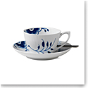 Royal Copenhagen, Blue Fluted Mega Tea Cup and Saucer 9.25oz.