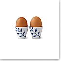 Royal Copenhagen, Blue Fluted Mega Egg Cup Pair 2""