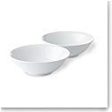 Royal Copenhagen, White Fluted Cereal Bowl Pair 11.75oz.