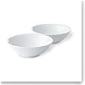 Royal Copenhagen, White Fluted Cereal Bowl Pair 11.75oz.