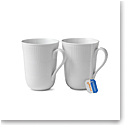 Royal Copenhagen, White Fluted Mug 11oz. Pair