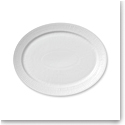 Royal Copenhagen, White Fluted Oval Platter 13.5""