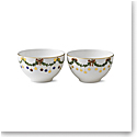 Royal Copenhagen, Star Fluted Christmas Chocolate Bowl Pair 10oz.