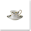 Royal Copenhagen, Star Fluted Christmas High Handle Cup & Saucer 8.5oz.
