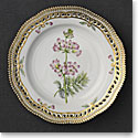 "Royal Copenhagen, Flora Danica Luncheon Plate 9"" Open Border, Limited Edition"