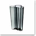 "Iittala Alvar Aalto Finlandia 8"" Vase, Dark Grey"