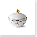 Royal Copenhagen, Star Fluted Christmas Sugar Bowl With Lid 3.5""