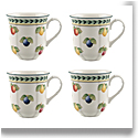 Villeroy and Boch French Garden Fleurence Mug 10 oz: Set of 4