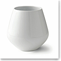 Royal Copenhagen, White Fluted Vase 8""