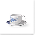 Royal Copenhagen, Blomst Teacup And Saucer Lilac 7.5oz.