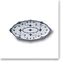 Royal Copenhagen, Blue Fluted Half Lace Oval Dish 9.75""
