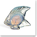 Lalique Crystal, Opalescent Lustre Fish Sculpture