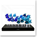 Lalique Crystal, Aquarium LED Blue with 25 Fish