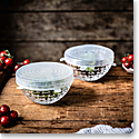 "Nachtmann Dancing Stars Bossa Nova 6"" Bowls with Silicone Lids, Pair"