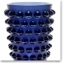 Lalique Mossi Vase, Midnight Blue