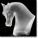 Lalique Crystal, Horse Head, Limited Edition, Clear Satin