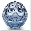 Lalique Crystal, Vibration Box, Blue Luster