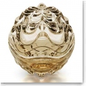 Lalique Crystal, Vibration Box, Gold Luster