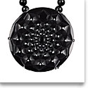 Lalique Crystal Cactus Necklace, Black