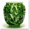 "Lalique Tourbillons 8 1/8"" Light Green Crystal Vase, Limited Edition"