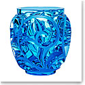 "Lalique Tourbillons 8 1/8"" Pale Blue Crystal Vase, Limited Edition"