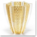 Lalique Provence Rayons Limited Edition Vase With Gold Leaf