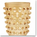 Lalique Crystal, Mossi XXL Gold Lustre Vase, Limited Edition