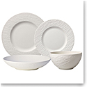 Villeroy and Boch Manufacture Rock Blanc 4 Piece Place Setting