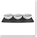 Villeroy and Boch NewMoon Dip Bowl & Tray Set of 3