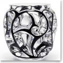 Lalique Crystal, Tourbillons XXL Crystal Vase, Black