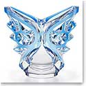 Lalique Crystal, Tourbillons Ovale Crystal Vase, Blue, Limited Edition